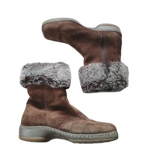 Blondo Canada Leather Suede Winter Fur Trim AquaProtect Boots